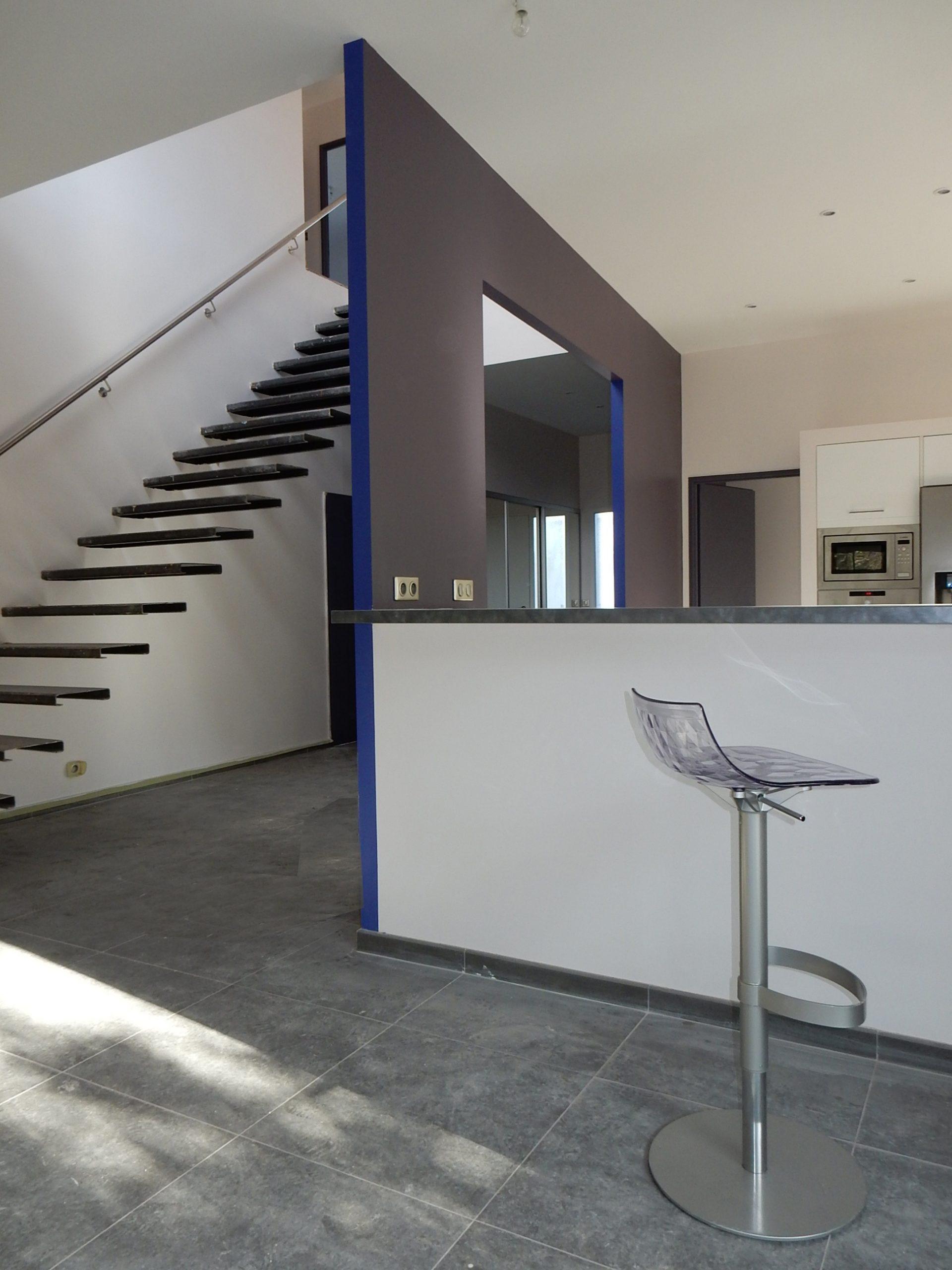 Maison privée- Coloration intérieure-arch Philippe Cordier