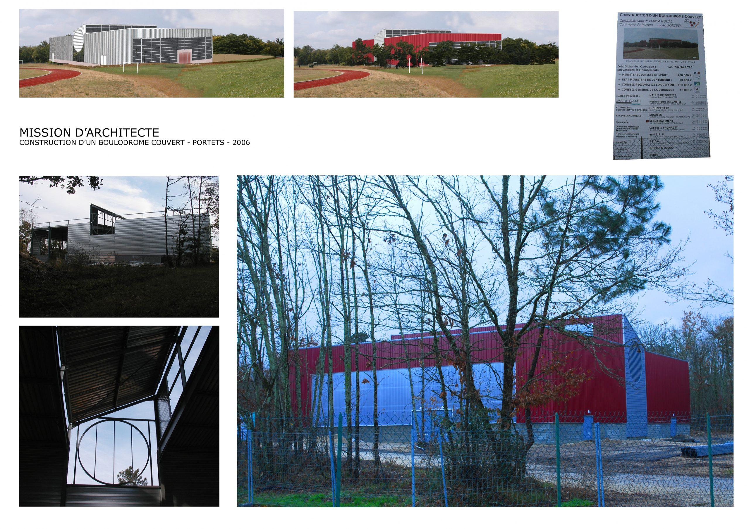 Boulodrome Portets-Chromo-architecture-arch MP Servantie