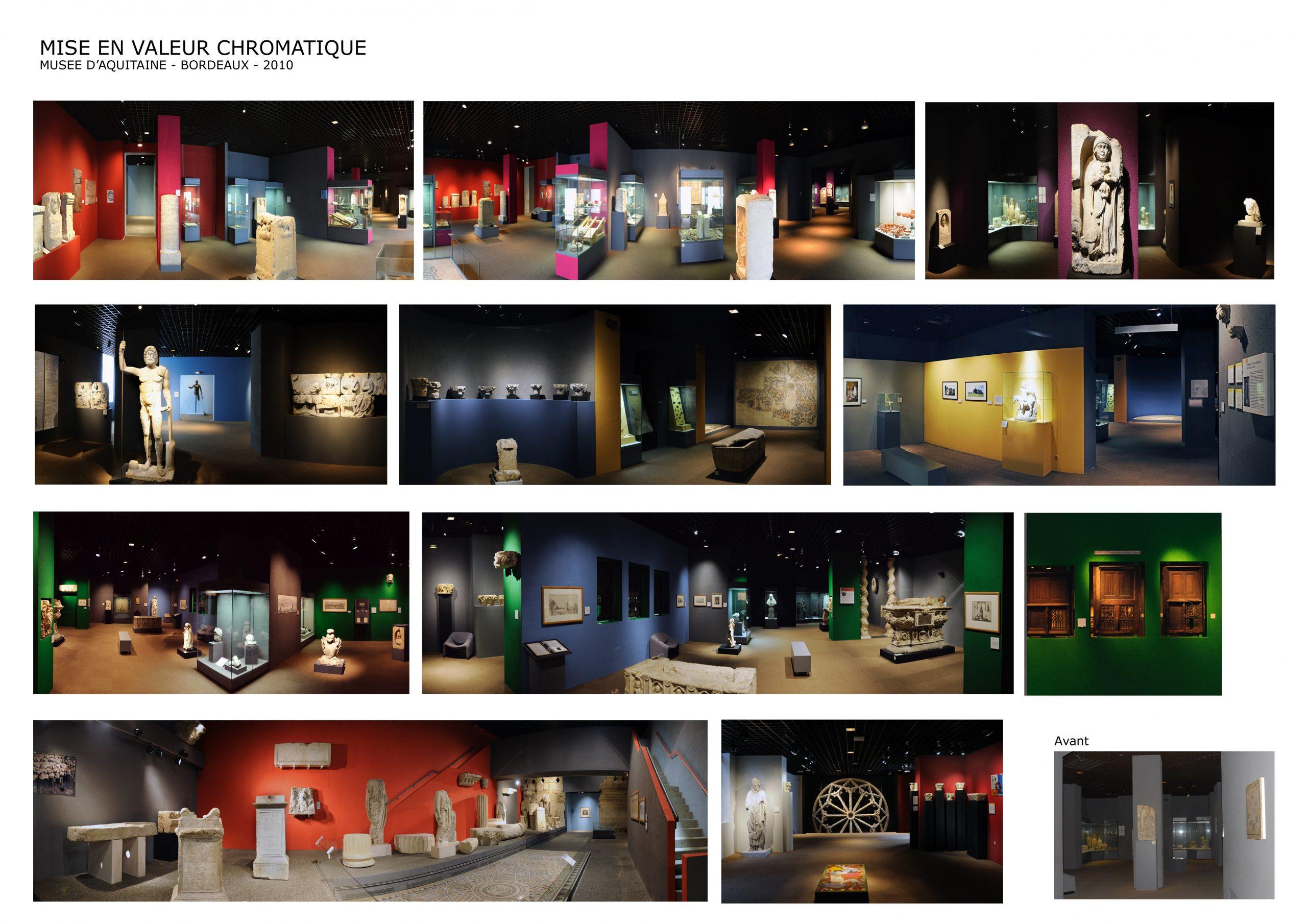 Musée d'Aquitaine Bordeaux- Mise en valeur chromatique des espaces