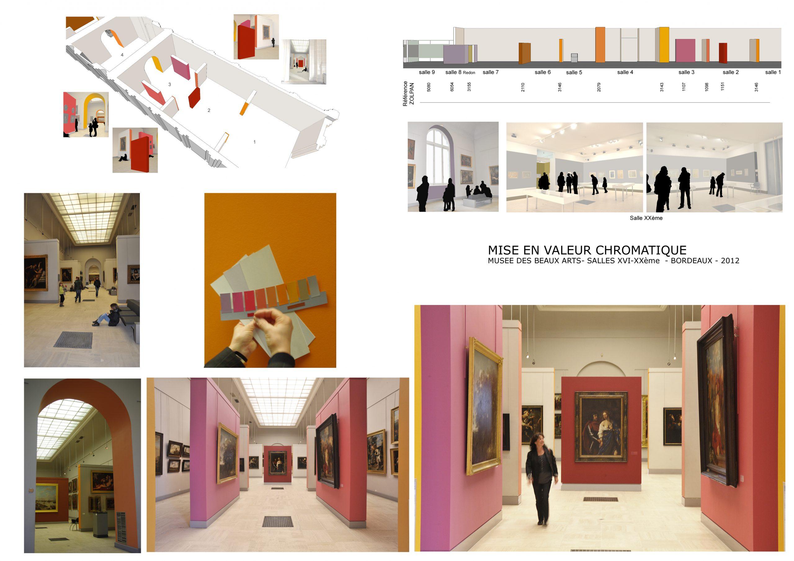 Musée des beaux arts Bordeaux- Mise en valeur chromatique des œuvr