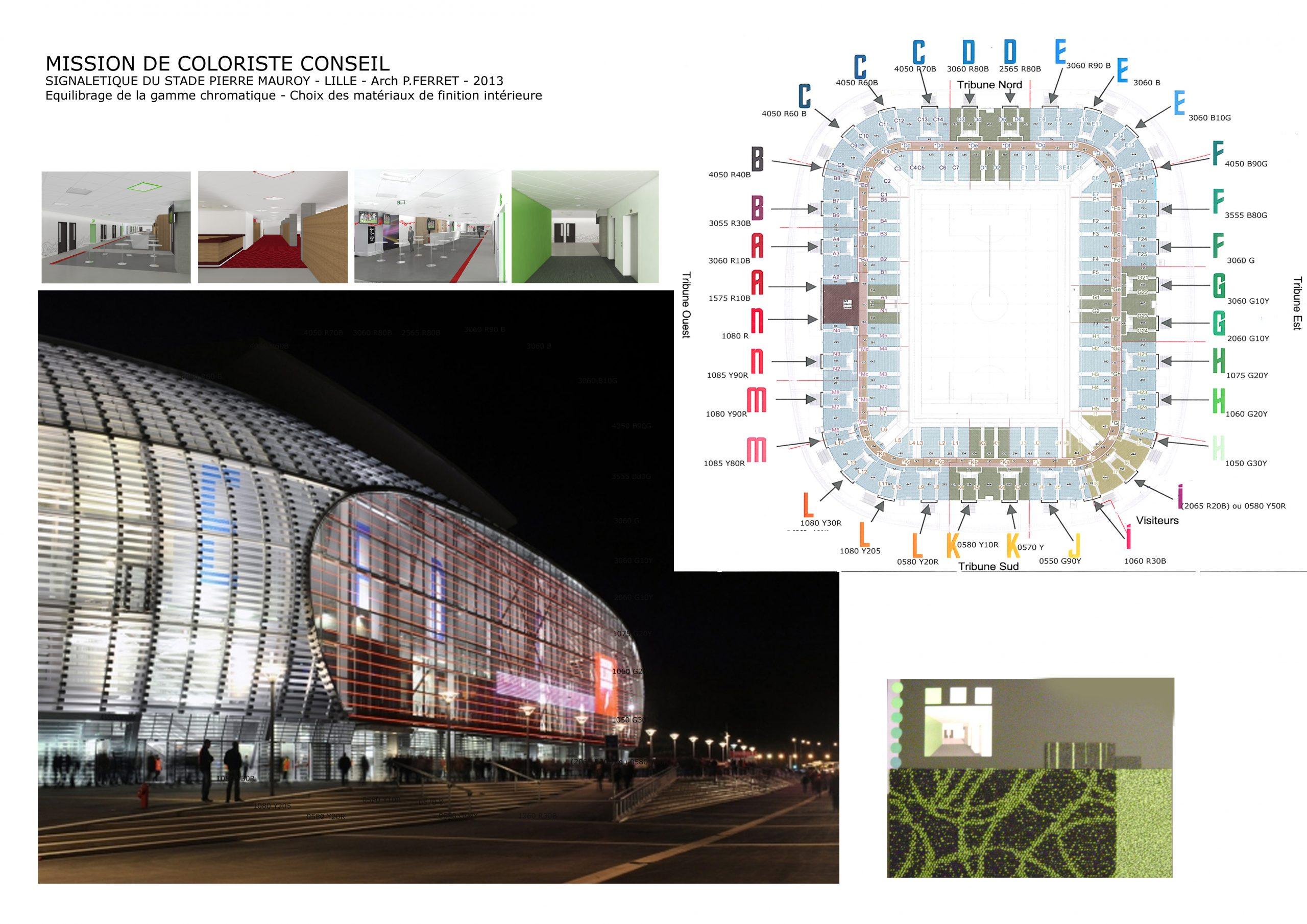 Stade Lille-signalétique et ambiance intérieure-arch Pierre FERRET