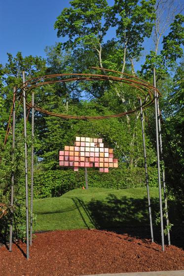 Festival des jardins Chaumont/Loire-Nuancier géant