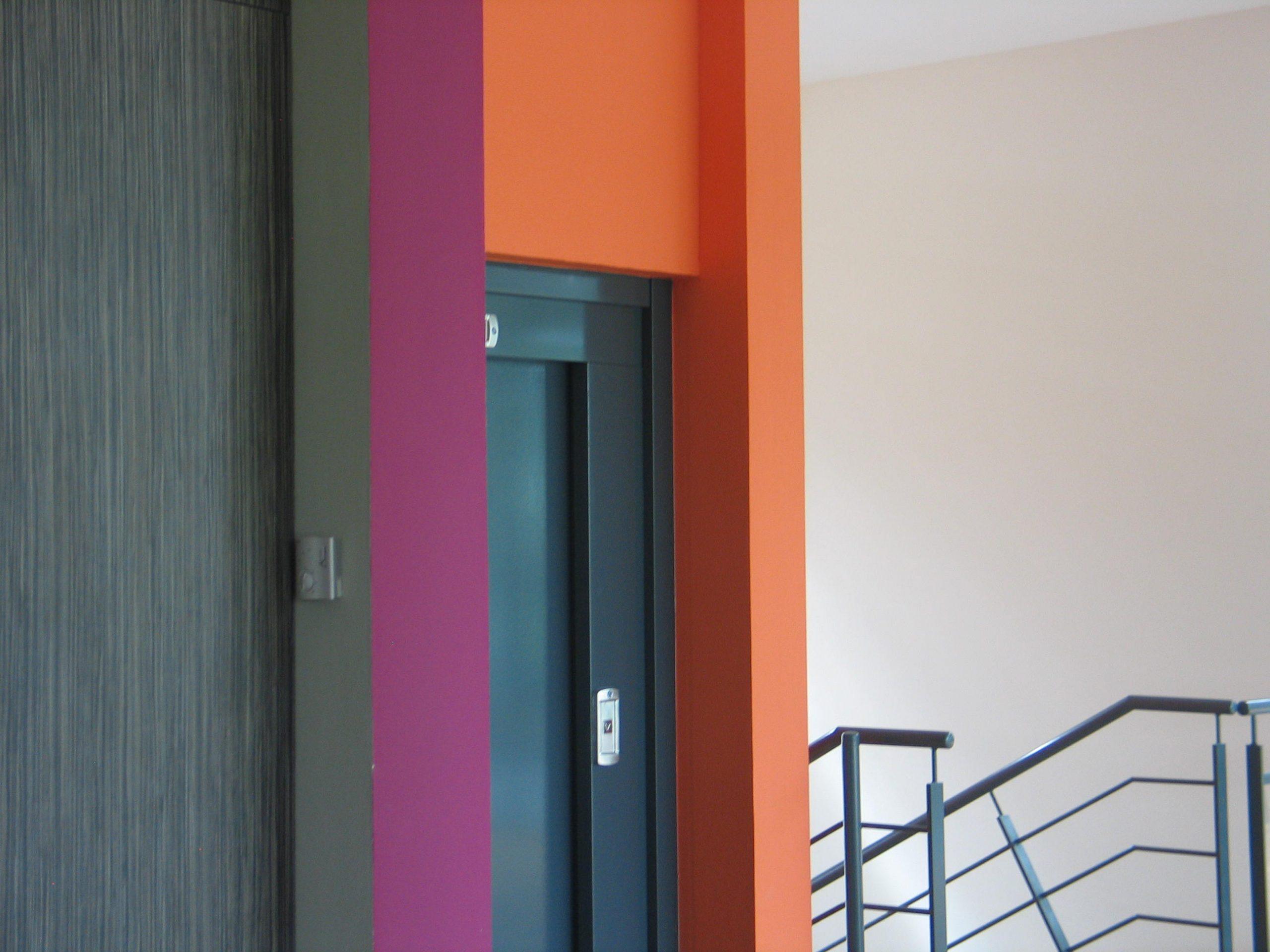 Collège Bégles-coloration intérieure-arch François Guibert