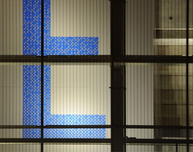 Stade Pierre Mauroy Lille-Couleur de la signalétique (Atelier Ferret architectures)lettrage stade pierre mauroy
