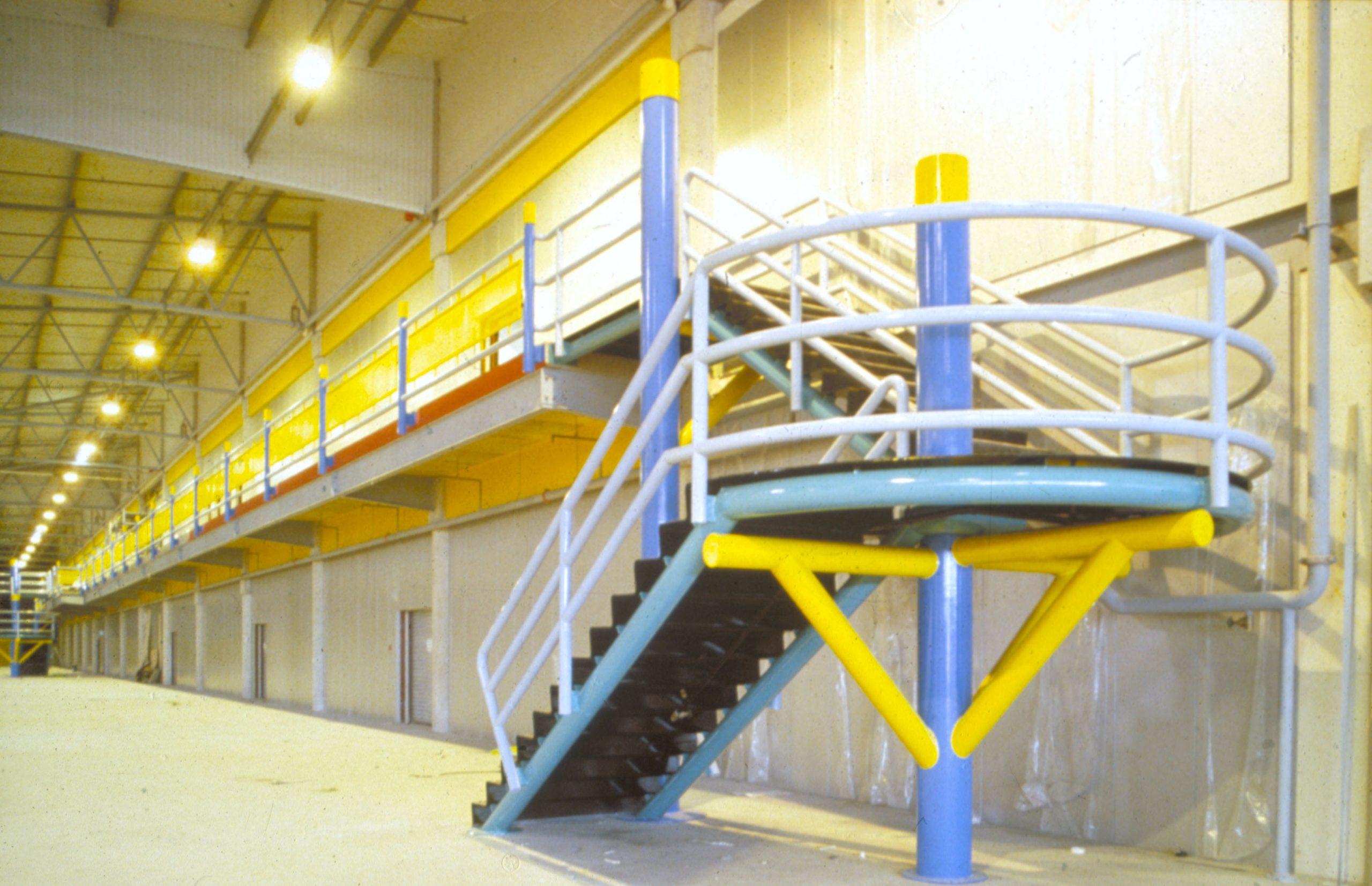 Usine Grattan Bradford GB-coloration intérieure- arch Ian Singleton