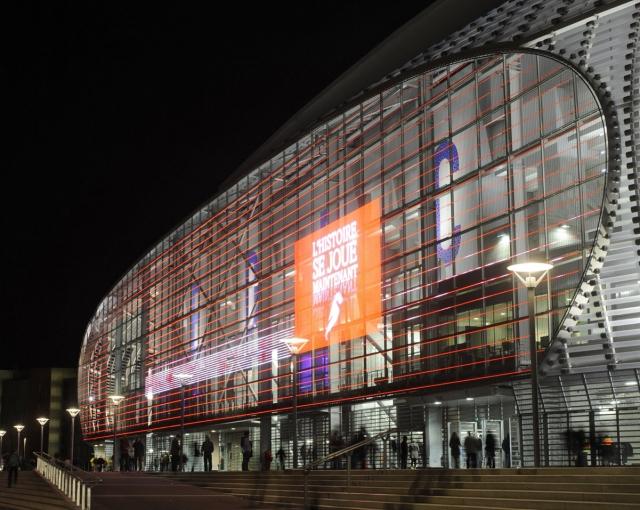 Stade Lille-Lettrage en couleur-arch Pierre FERRET