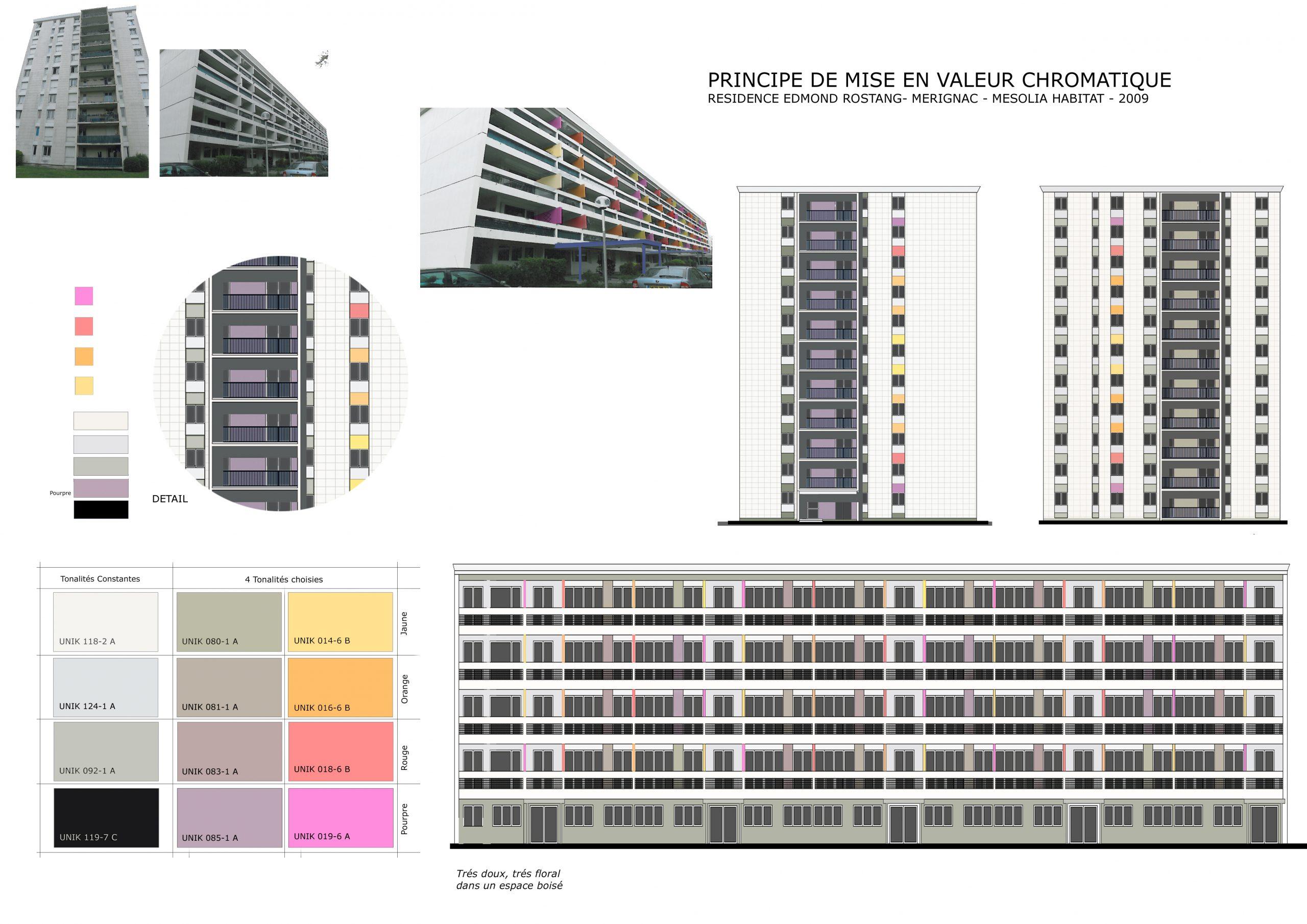 Polychromie-Requalification chromatique des façades-Mérignac