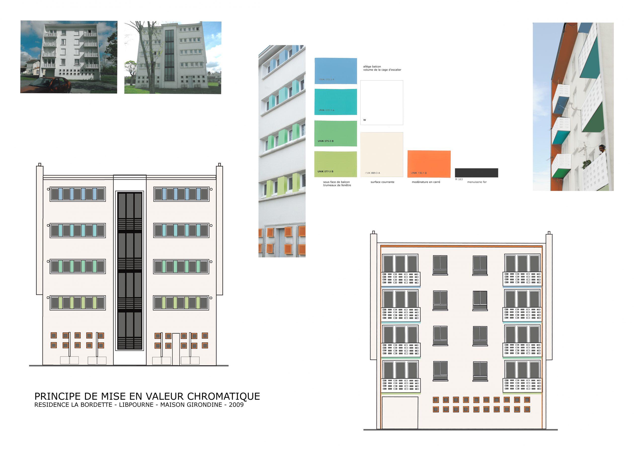 Logements Libourne-coloration de façade
