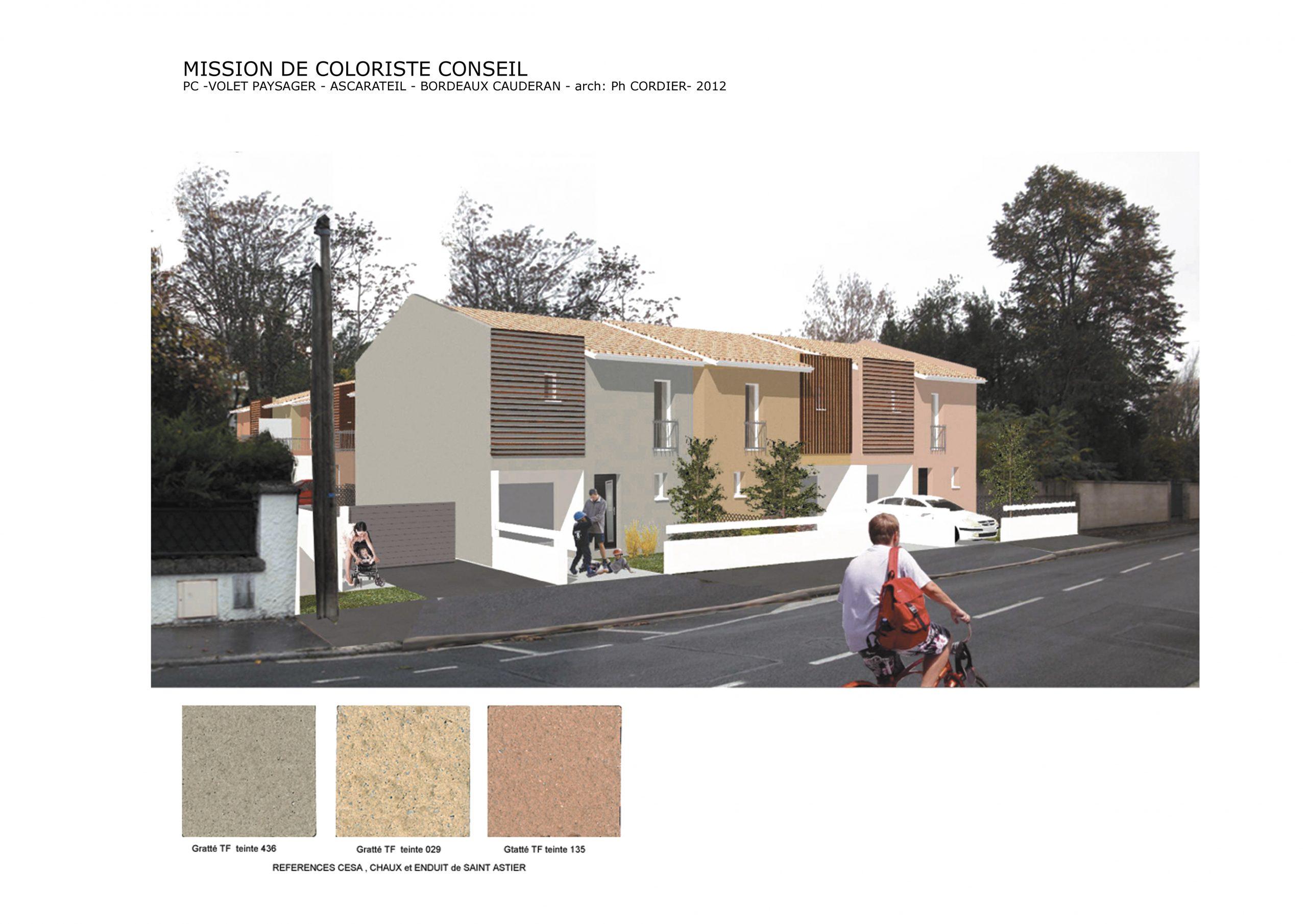 Maison privée-Coloration extérieure-arch Philippe Cordier