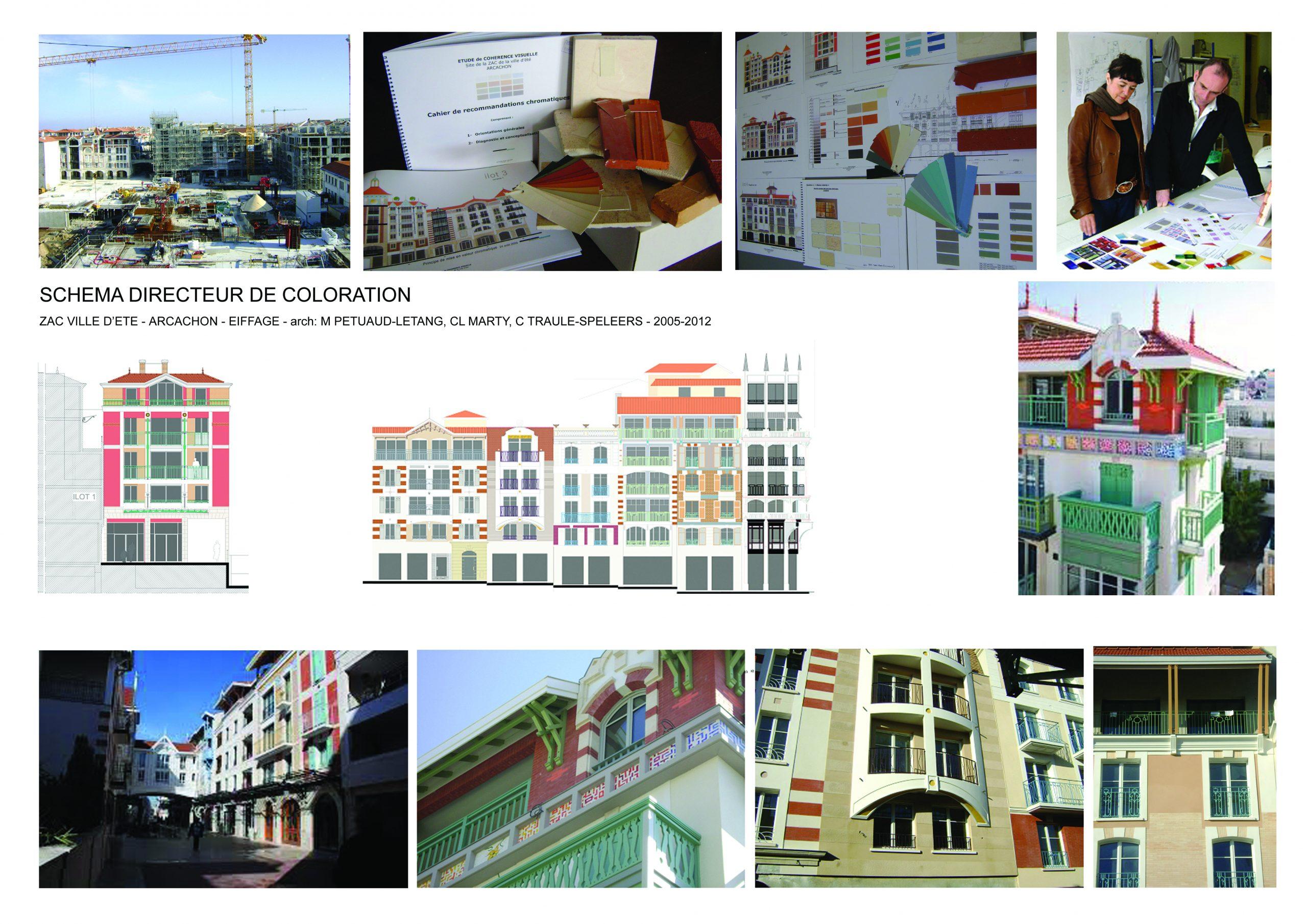ZAC Arcachon-Urbanisme-Schéma directeur de coloration-arch M.Pétuaud Létang, Cl Marty,C. Traule Speleer