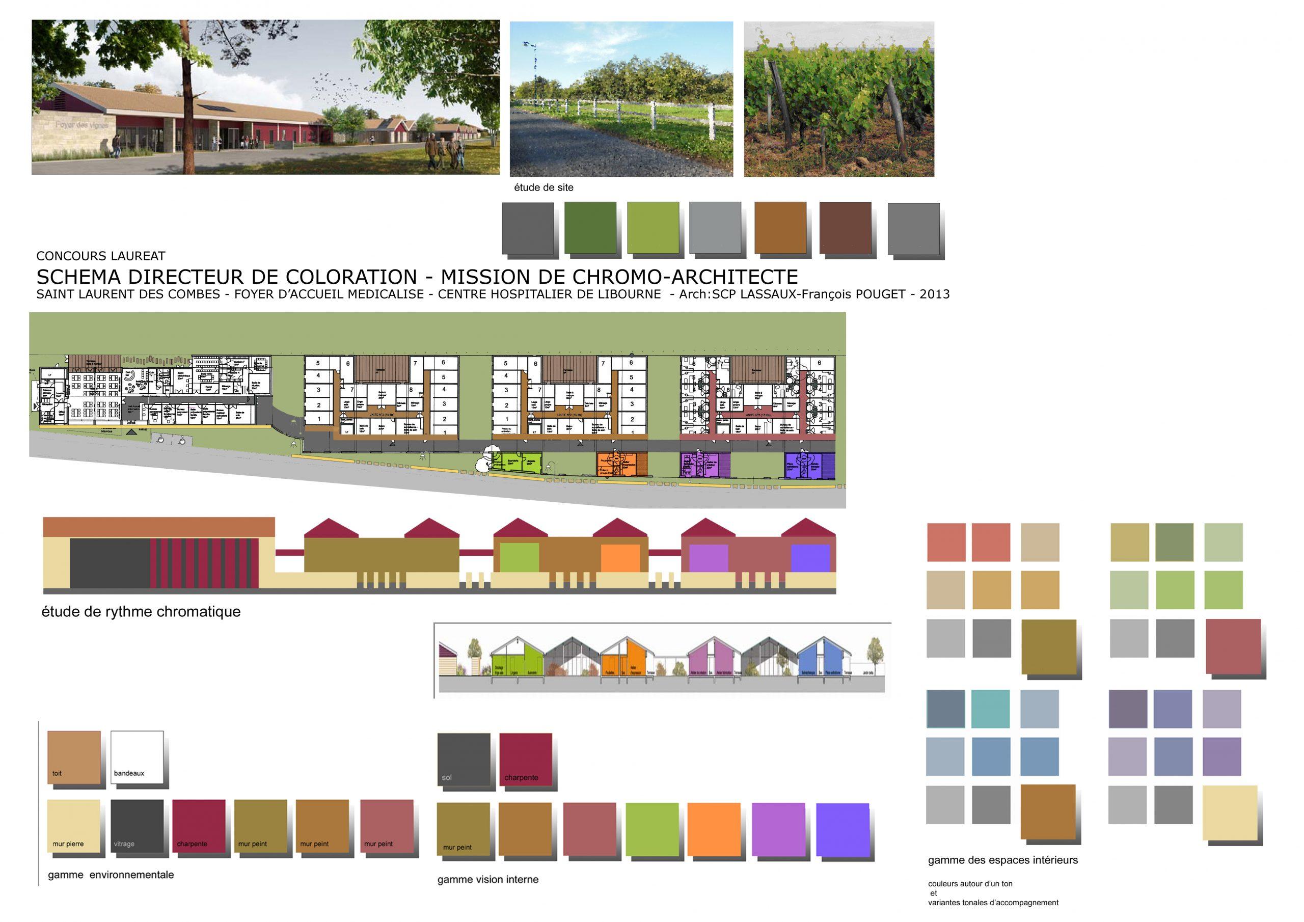 Foyer Aide Médicale-Concours-Schéma directeur de coloration-arch scp Lassaux Pouget