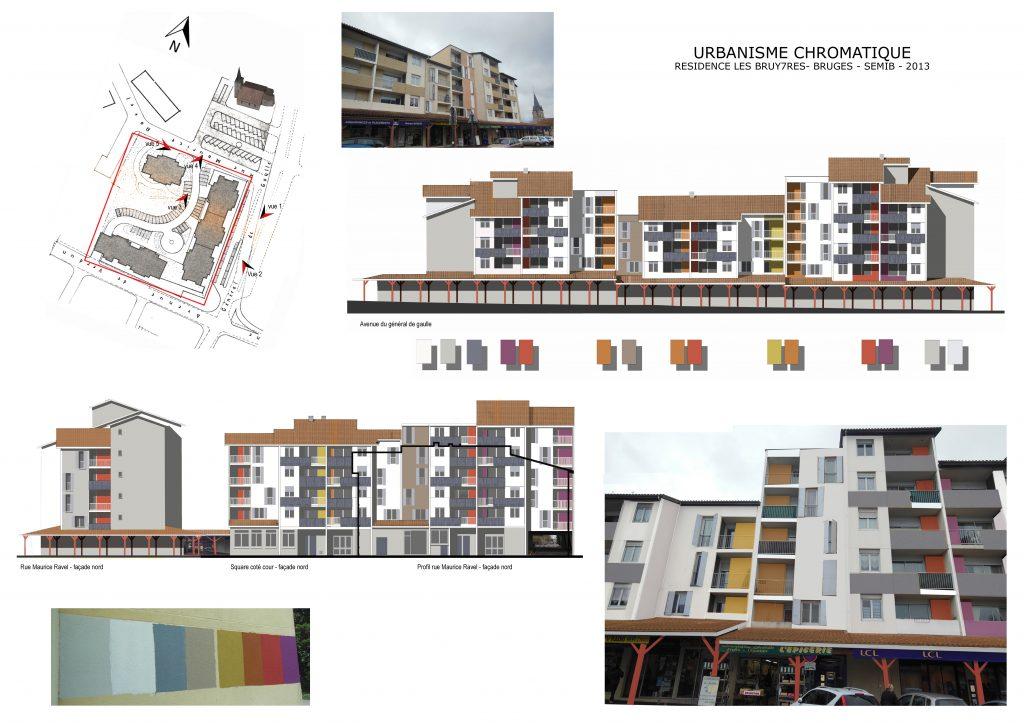 Urbanisme chromatique-Polychromie architecturale-Bruges