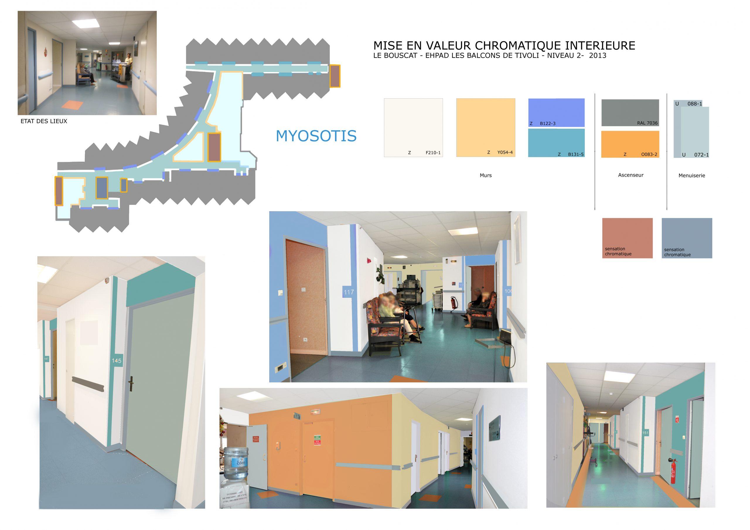 EHPAD Le Bouscat-Coloration intérieure