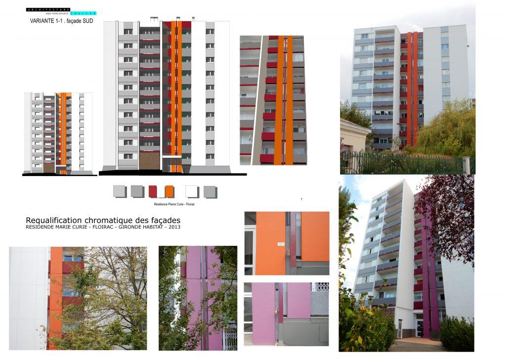 Requalification chromatique des façades-Cenon