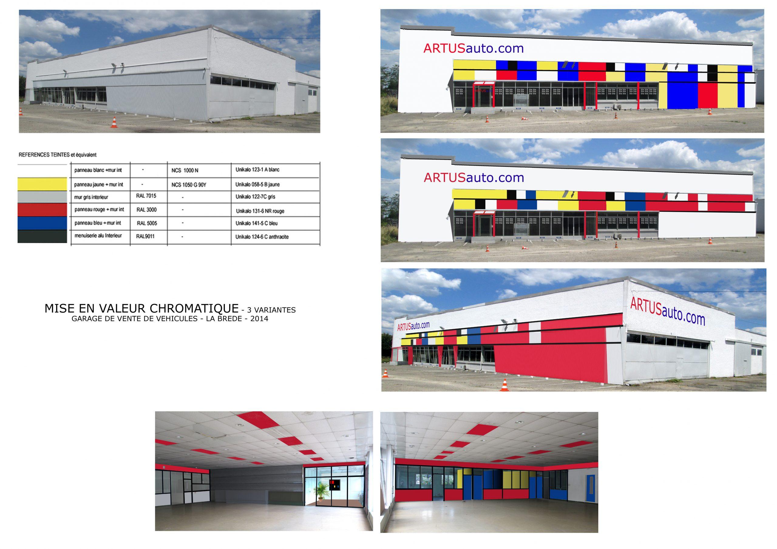 Garage Artus Auto.com- Polychromie architecturale