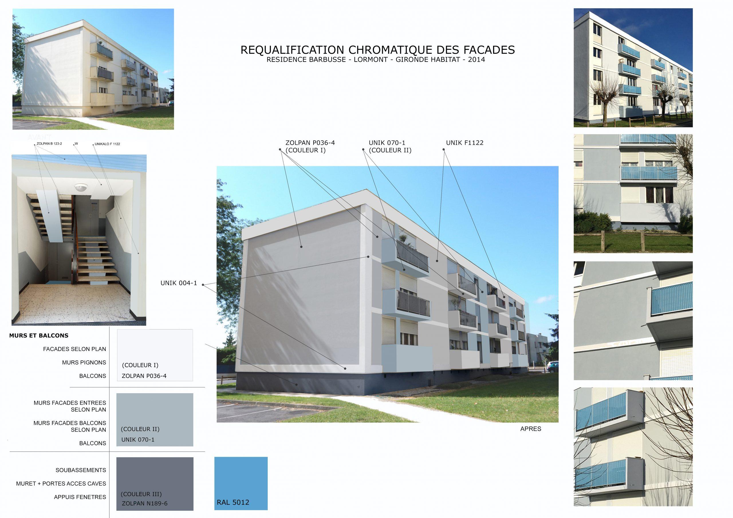 Urbanisme chromatique-Polychromie architecturale-Lormont