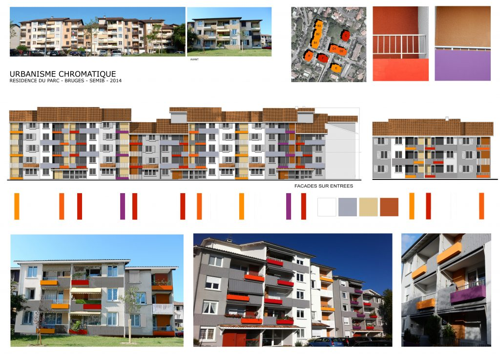 Polychromie architecturale urbaine-Bruges