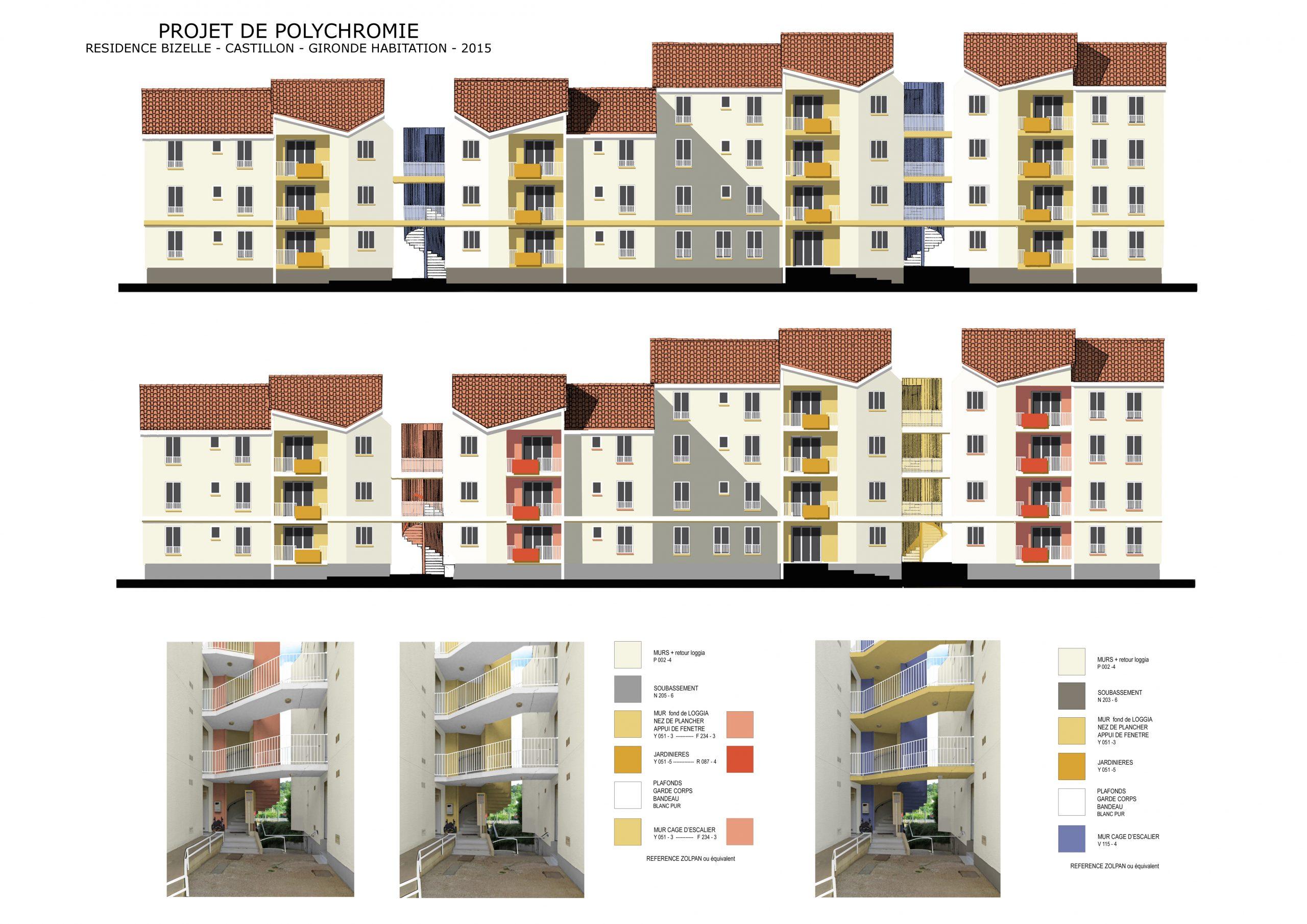 Collectifs-Polychromie architecturale-Castillon la bataille