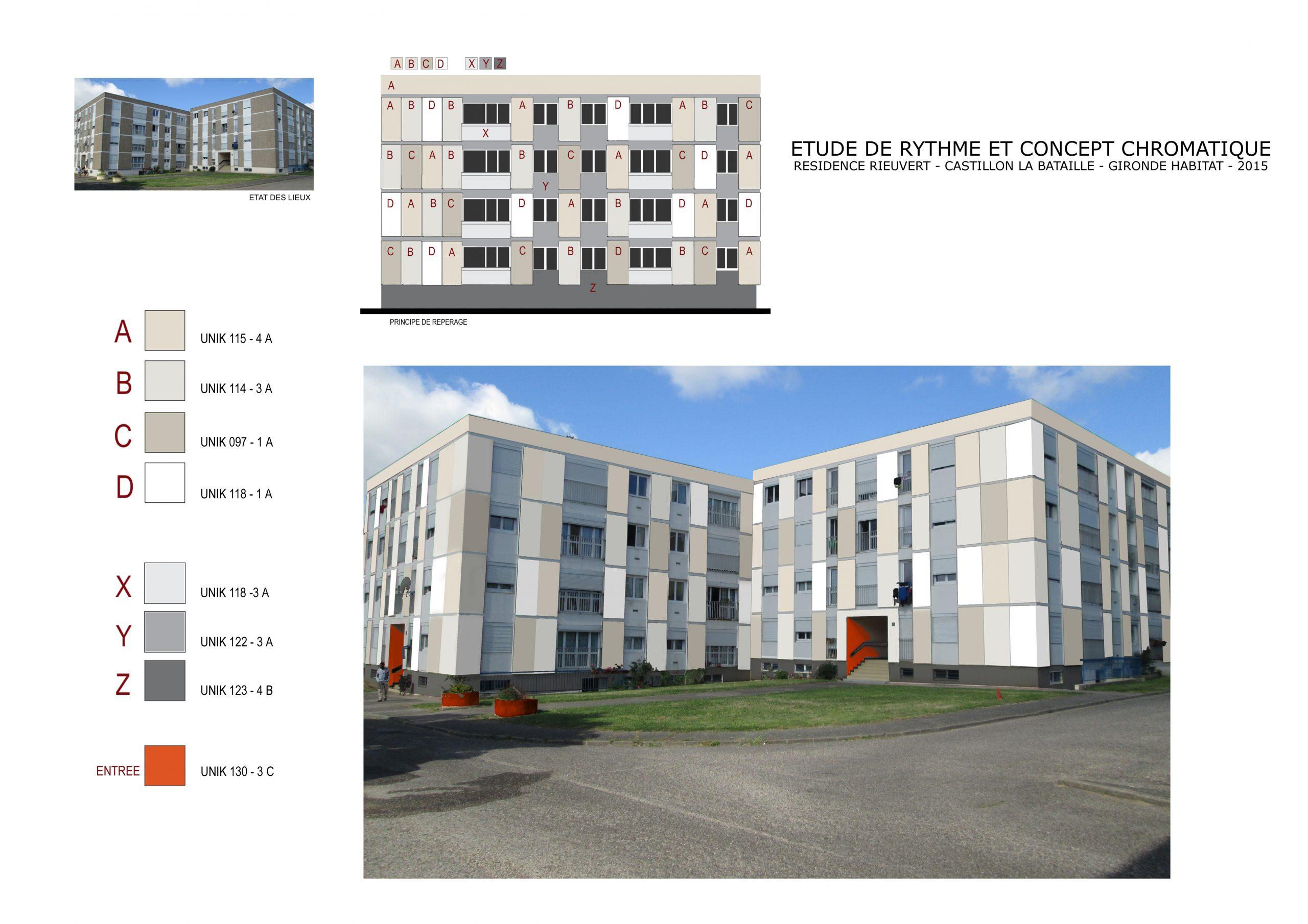 Valorisation de façades-chromo-architecture urbaine-Castillon la bataille