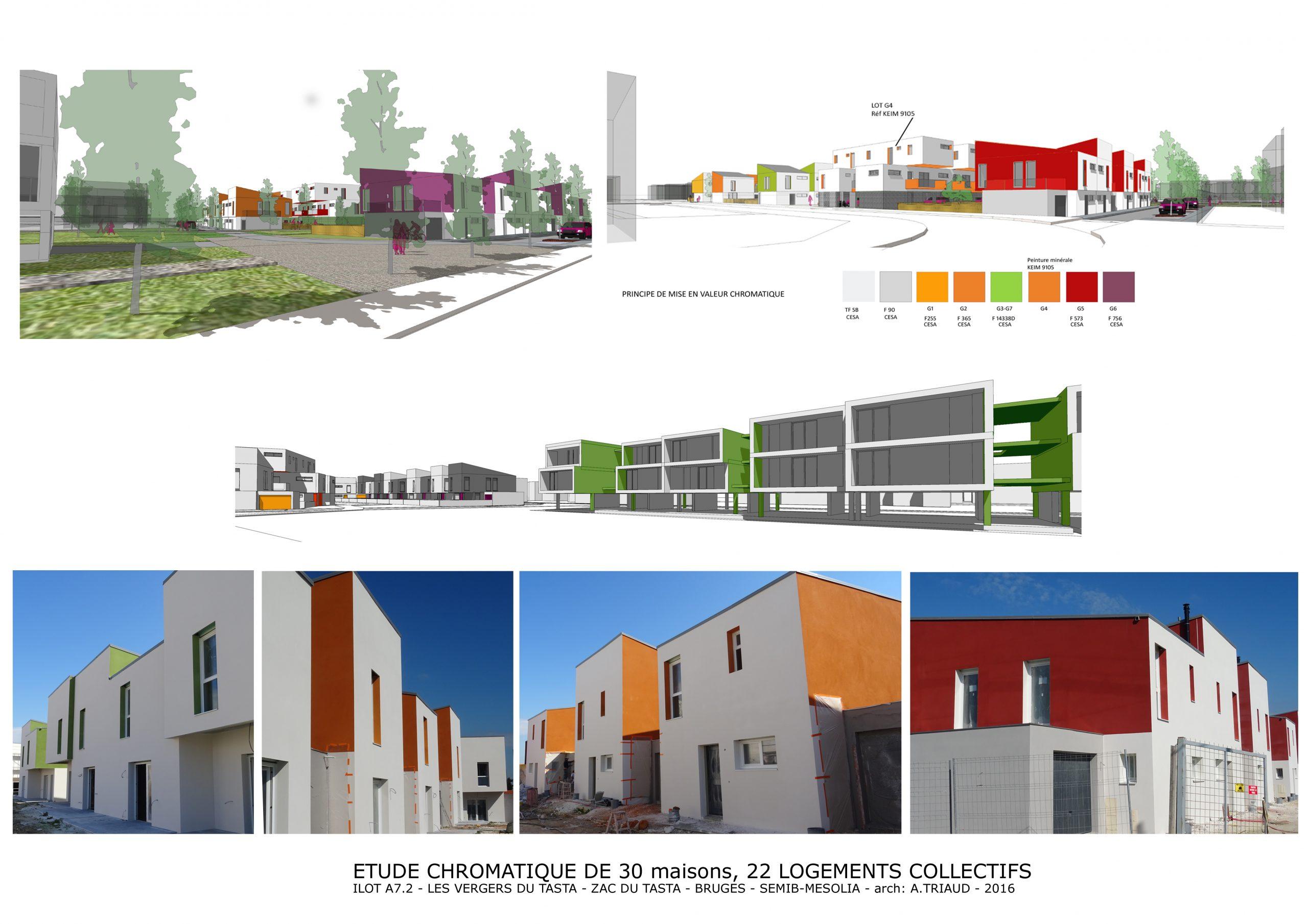 Nouveaux quartier Bruges-Urbanisme- Polychromie architecturale-arch Alain Triaud