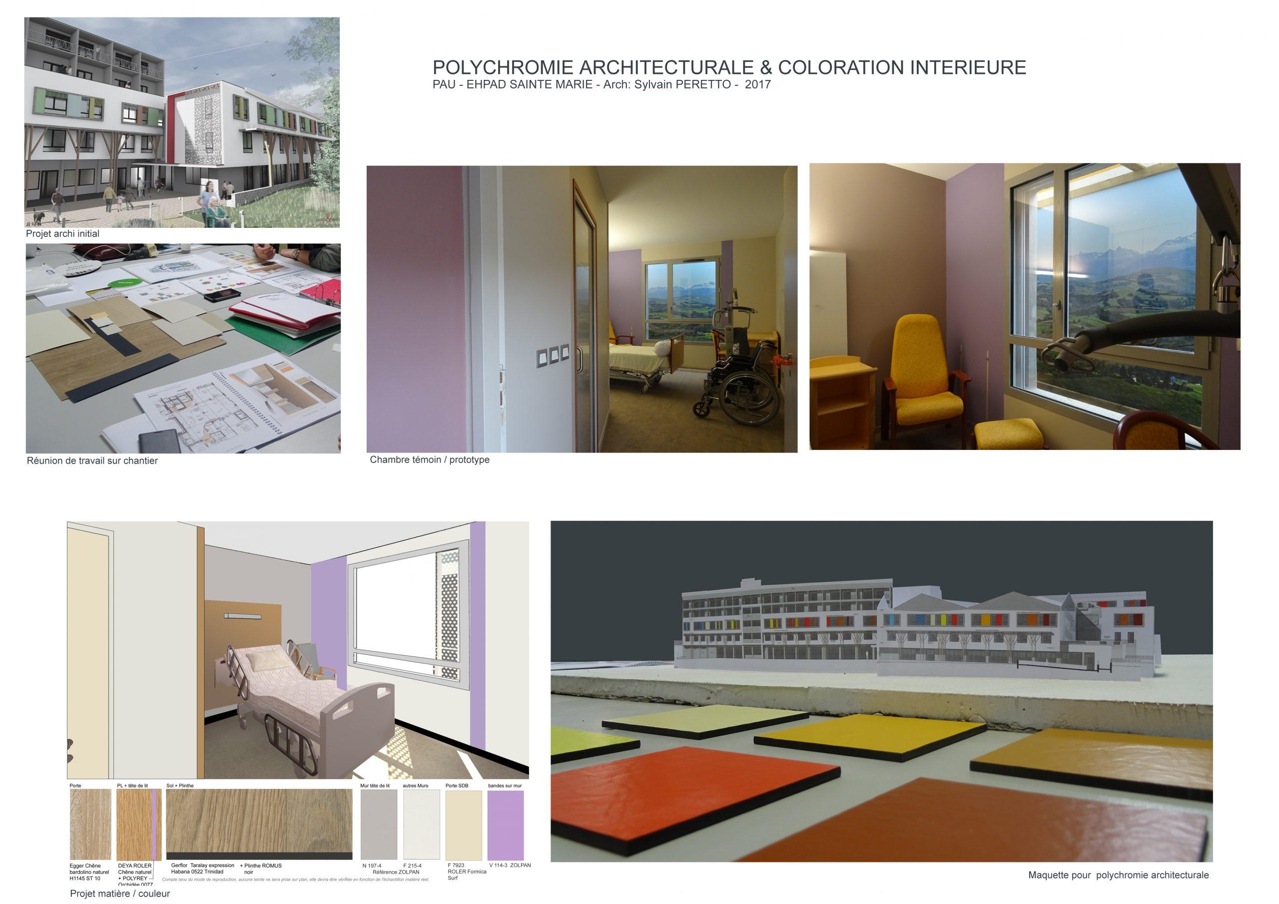 EHPAD Pau-Polychromie architecturale-arch Sylvain Peretto