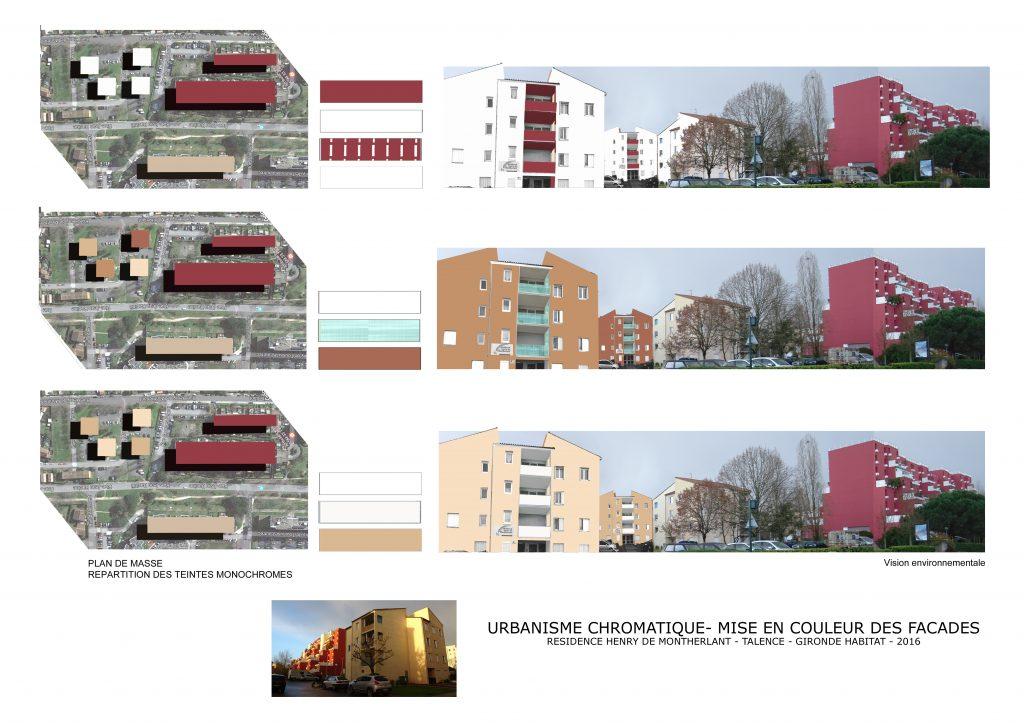 Urbanisme chromatique et monochrome- Talence