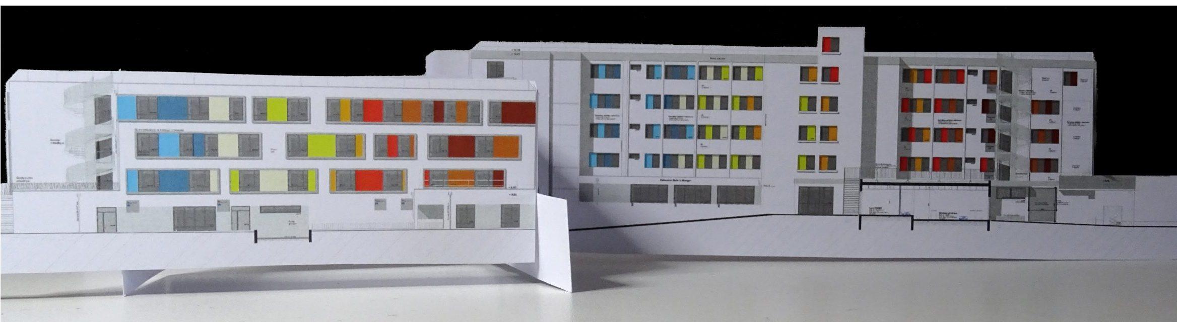 EHPAD Pau-Polychromie architecturale-Maquette