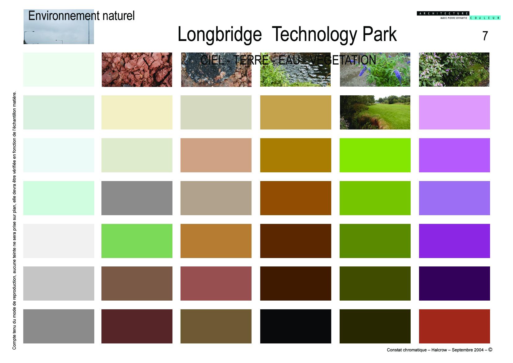 Constat chromatique-Terre/eau/végétation