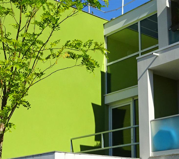urbanisme chromatique- Résidence arc en ciel-Bruges