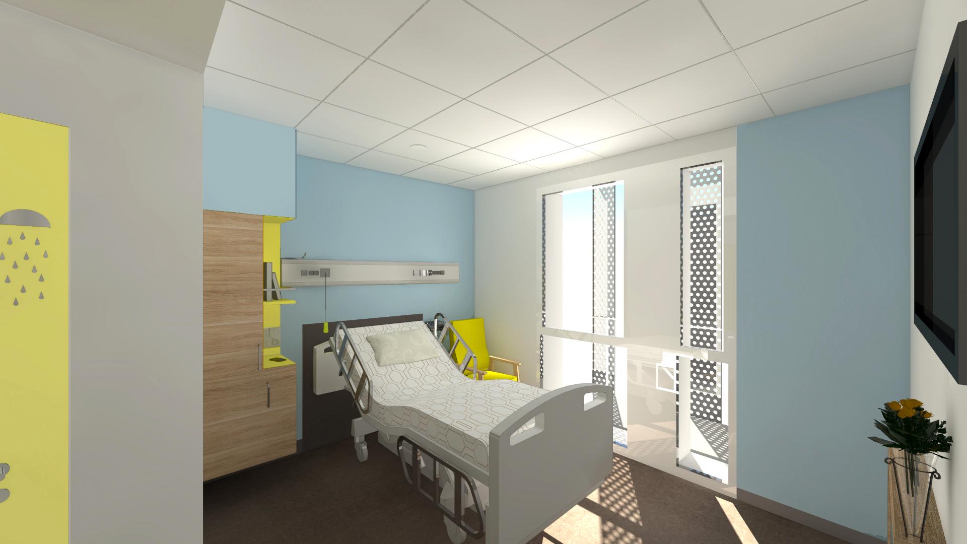 Chambre Hôpital NHL-Gamme Cristal +Tilleul-arch François Pouget