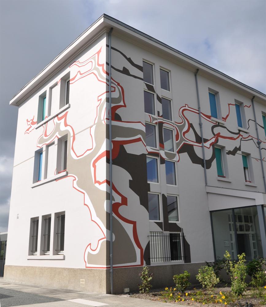 mur peint- design graphique