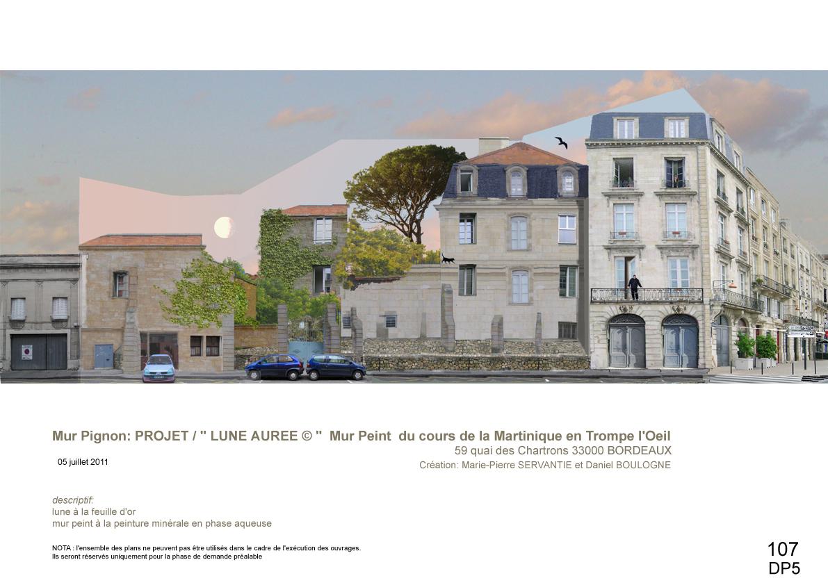 mur peint-Cours Martinique Bordeaux- Esquisse