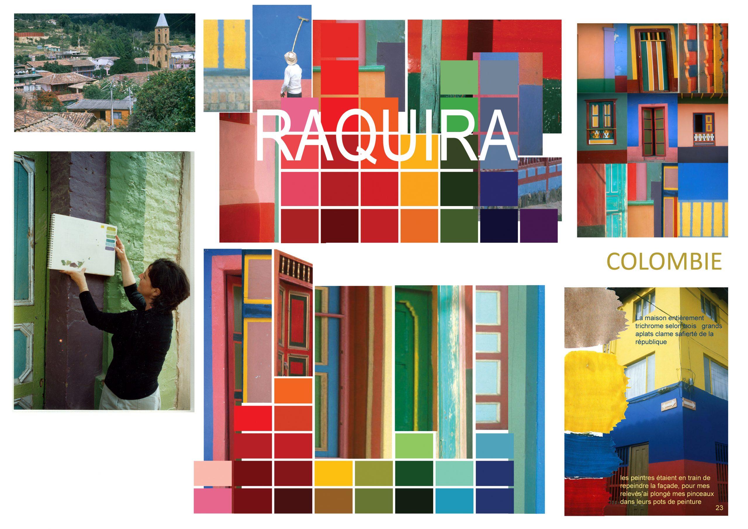RAQUIRA Colombie-Village aux 134 couleurs-Constat chromatique