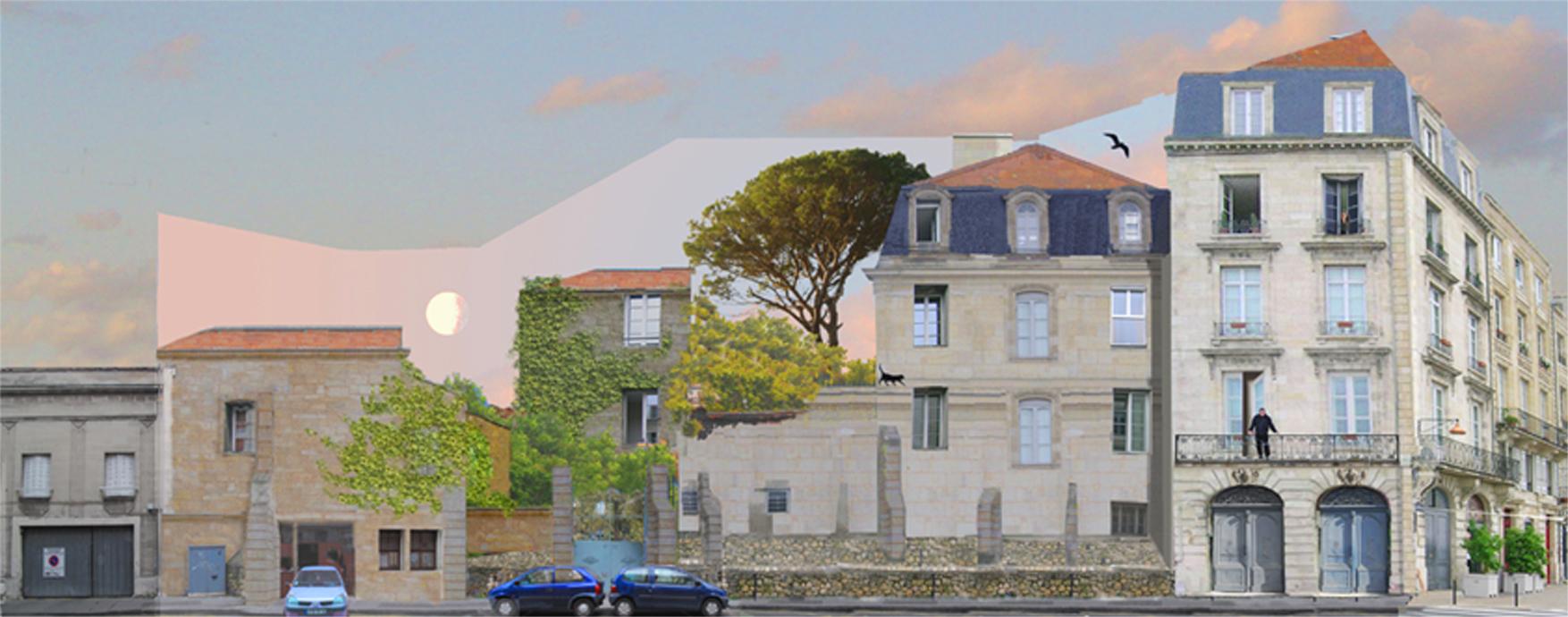 Cours Martinique Bordeaux-mur peint-Concept
