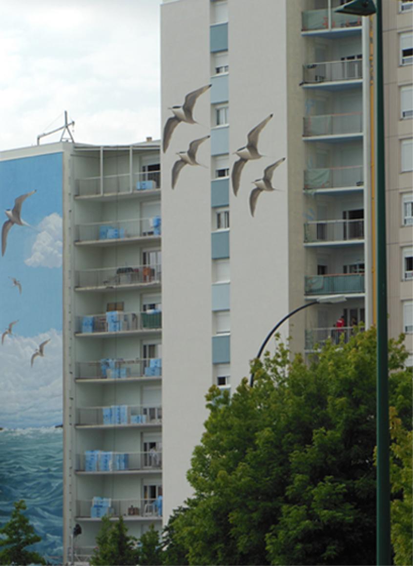 Port de la lune Bordeaux-Mur peint-Réalisation