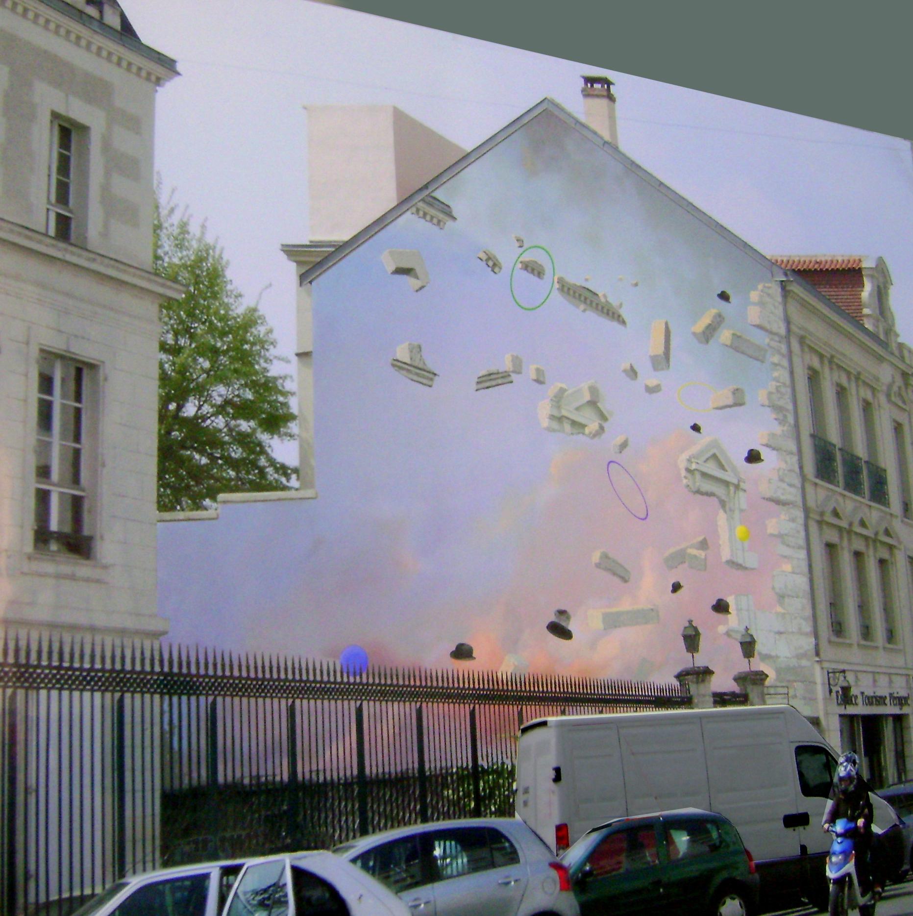 Mur Cobaty-Périgueux-Trompe-l'œil-Réalisation