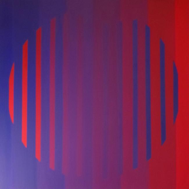 Bleu Cerise-acrylique sur toile 90x90-2013