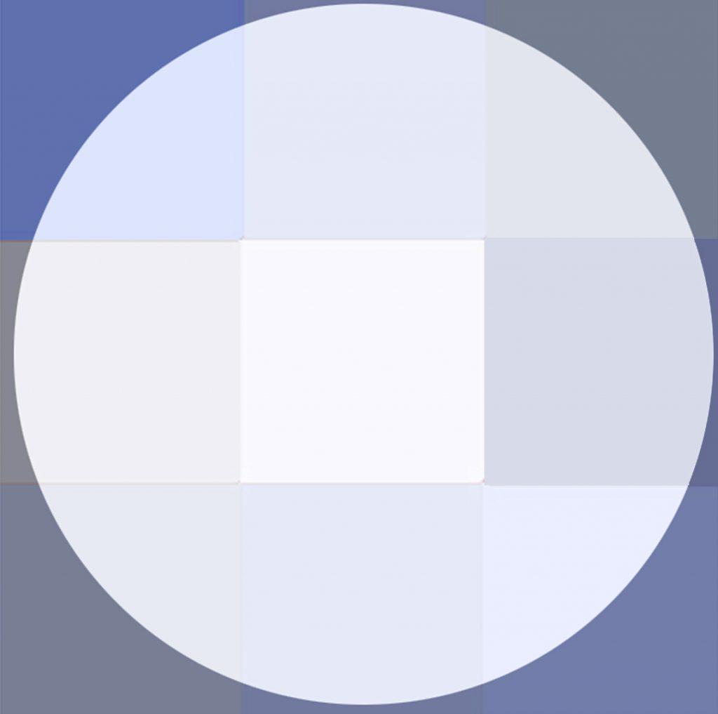 Bleu de lune- acrylique sur toile-90x90-2014