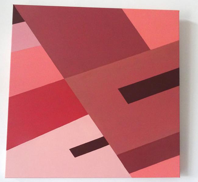 Brun de rose-acrylique sur toile-90×90-2015
