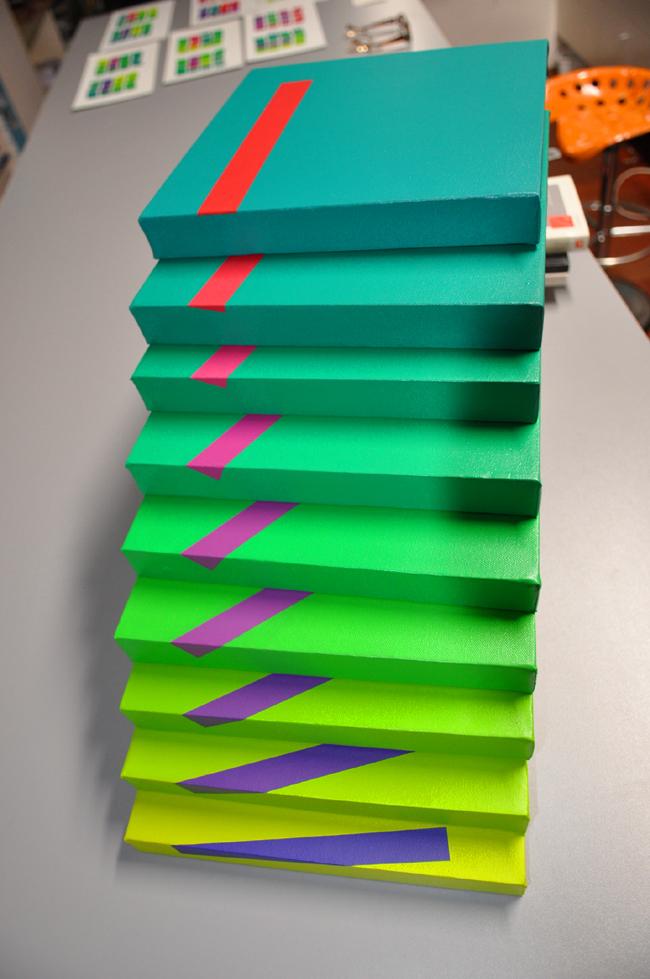 Vert écarlate-acrylique sur toile-90×90-2012